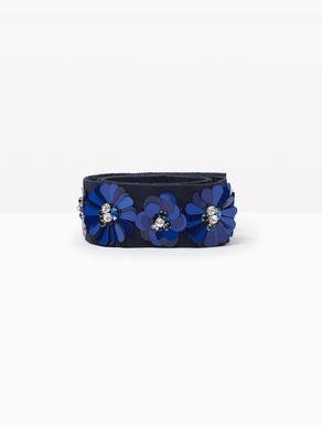 Cinturón joya de grosgrén con flores