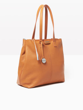 Double leather tote bag