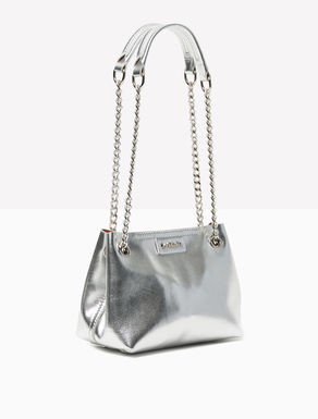 Mini double leather shoulder bag
