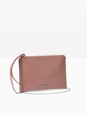 Leather clutch with zip