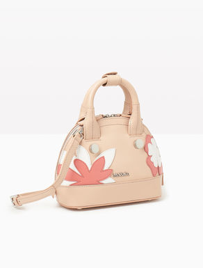 Mini leather bag with flowers