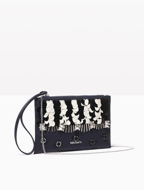 Duchesse clutch with jewel embroidery