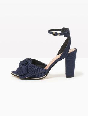 Sandales en tissu à nœud
