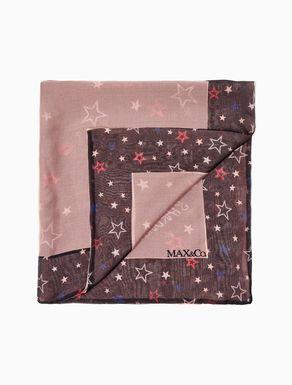 Printed silk chiffon scarf