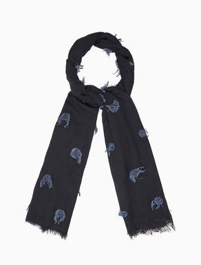 Polka-dot fil coupé scarf
