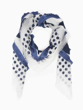 Grand foulard en voile à pois