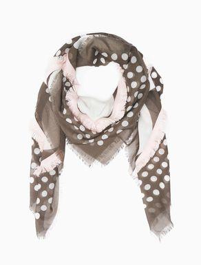 Polka-dot voile maxi-scarf