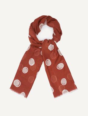 Printed muslin scarf