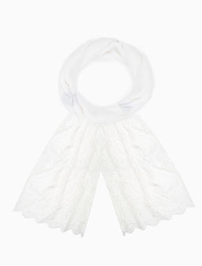 Cotton and broderie anglaise scarf
