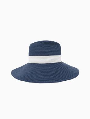 Wide-brimmed raffia hat