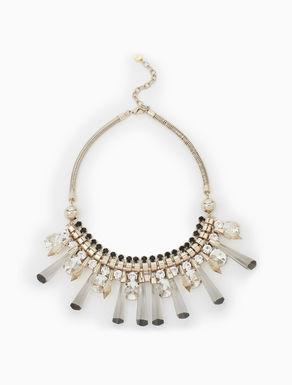 Plastron necklace with rhinestones