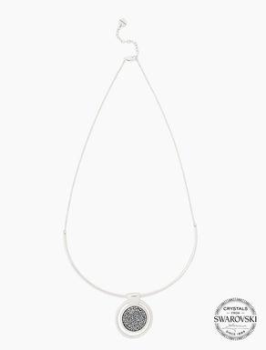 Collier avec pavé de cristaux