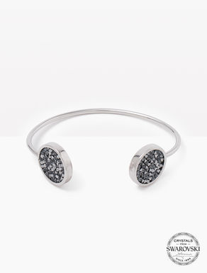 Bracelet with pavé-set crystals