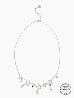 Necklace with stars and micro-crystals