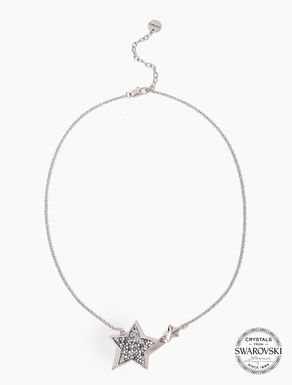 Necklace with stars and pavé crystals