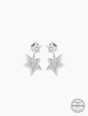 Earrings with stars and crystals