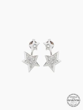 Boucles d'oreilles étoiles et cristaux