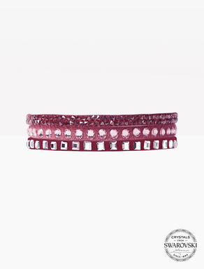 Bracelet en alcantara et cristaux