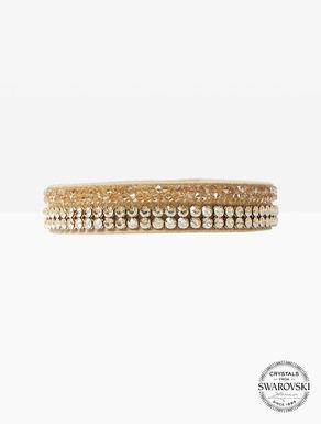 Alcantara-Armband mit Kristallen