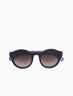 Sunglasses with geometric inserts