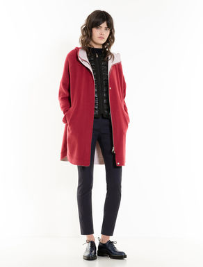 Oversized double fabric parka