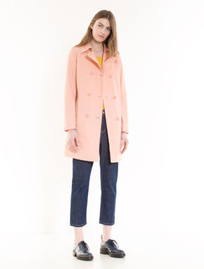 Slim trench coat in cotton/nylon