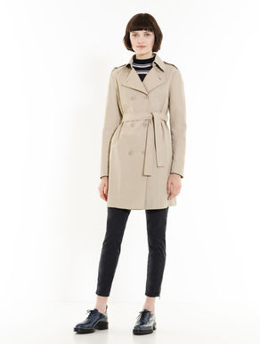 Trench slim di cotone/nylon