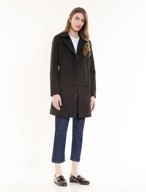 Slim trench coat in cotton/nylon
