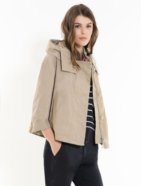 Cropped parka in cotton/nylon