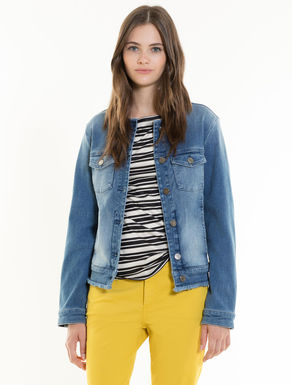 Jacke aus Stretch-Denim