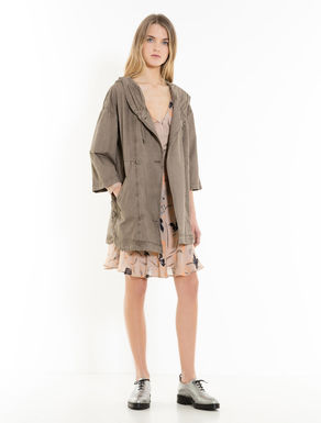 Unstructured cotton parka