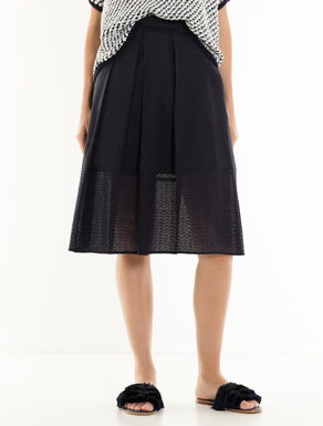 Voile and eyelet skirt