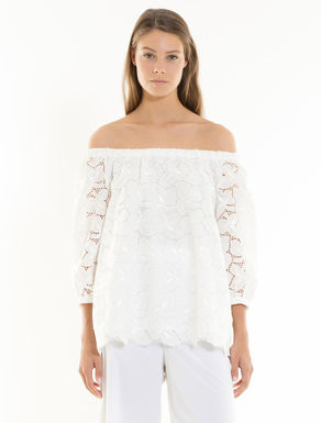 Broderie anglaise and muslin blouse