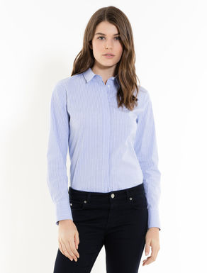 Camisa slim de popelina stretch