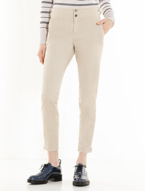 Skinny-fit trousers with toggles