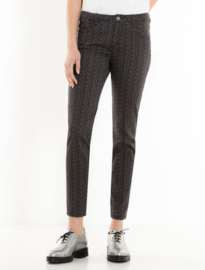 Skinny-fit trousers with stars