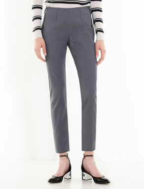 Skinny fit jacquard trousers