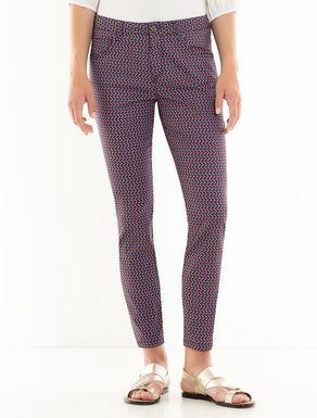 Pantaloni skinny stampati