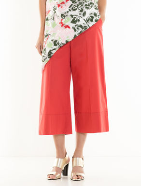 Poplin culotte trousers