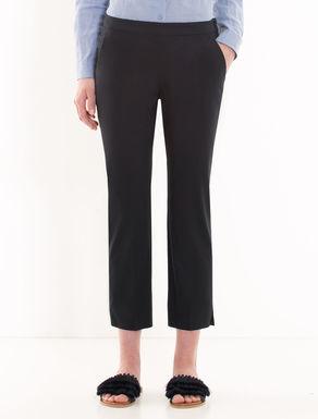 Slim-fit gabardine trousers