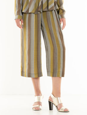Striped fluid culotte trousers