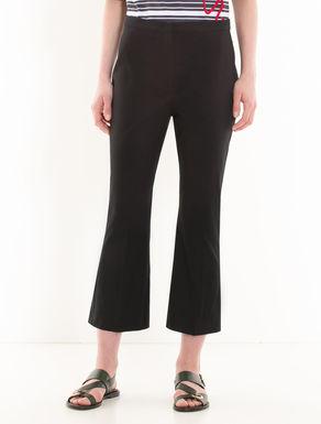 Kick-flare gabardine trousers