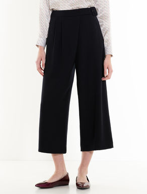 Sarong trousers with pleats