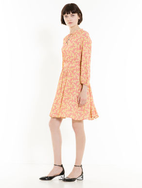 Dress in floral crêpe fabric