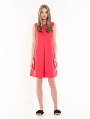 A-line gabardine dress