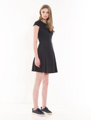 Fit & flare gabardine dress