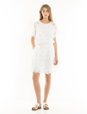 Broderie anglaise and muslin jumpsuit