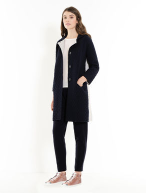 Padded knit coat