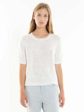 Jersey de hilado y tela de lino