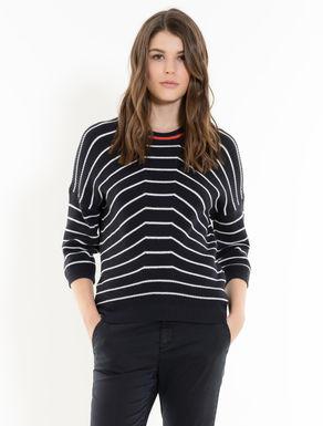 Fisherman's rib jumper with stripes